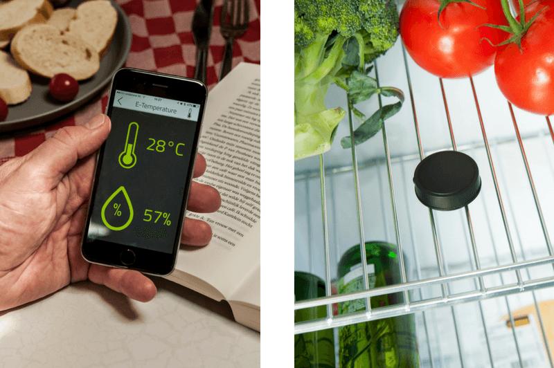 e-temperature modulet fortæller din smart-trailer temperaturen i køleskabet eller i campingvognen