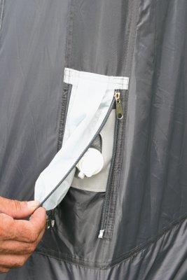 Lufttelte fra Westfield er alle udstyret med overtryksventil
